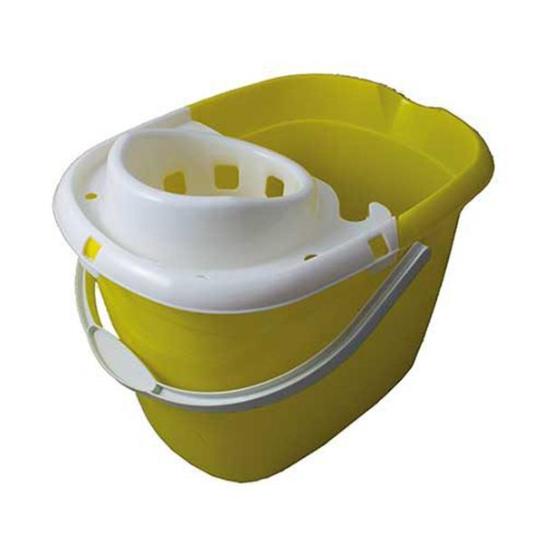 Plastic-Mop-Bucket-with-Wringer----Yellow