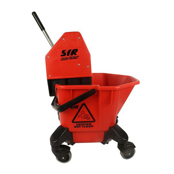 Wheeled-Bucket---Wringer---Red