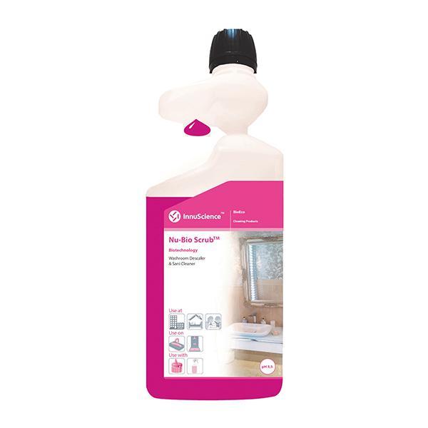 Nu-Bio-Scrub-Dosing-Bottle-One-Flip-Lactic-Acid-Based--Daily-Descaler--Sani-Cleaner