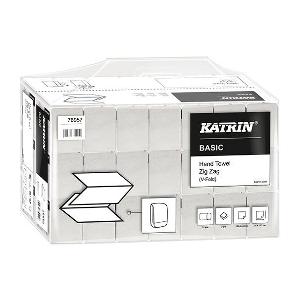 Katrin-Zig-Zag-White-2ply-Hand-Towels-76957-22.4-x-23cm