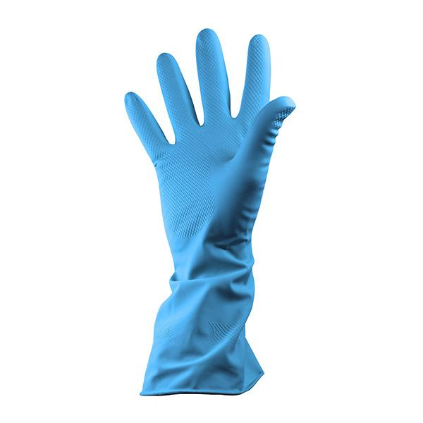 PAIR-Rubber-Household-Gloves-Small---Blue