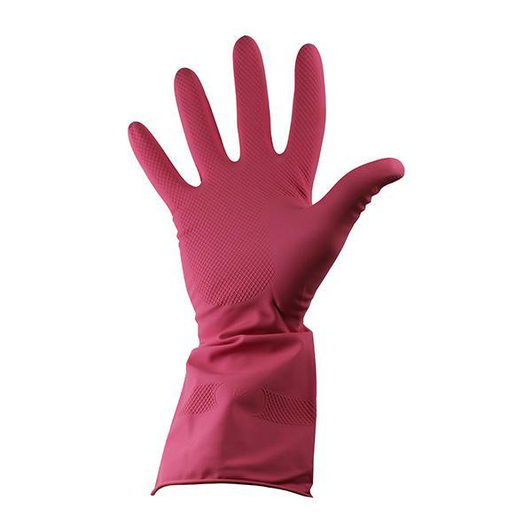 PAIR-Rubber-Household-Gloves-Medium--Red