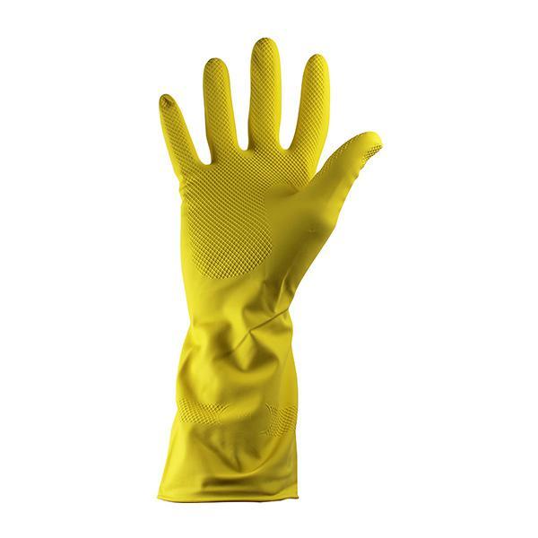 PAIR-Rubber-Household-Gloves-Medium---Yellow