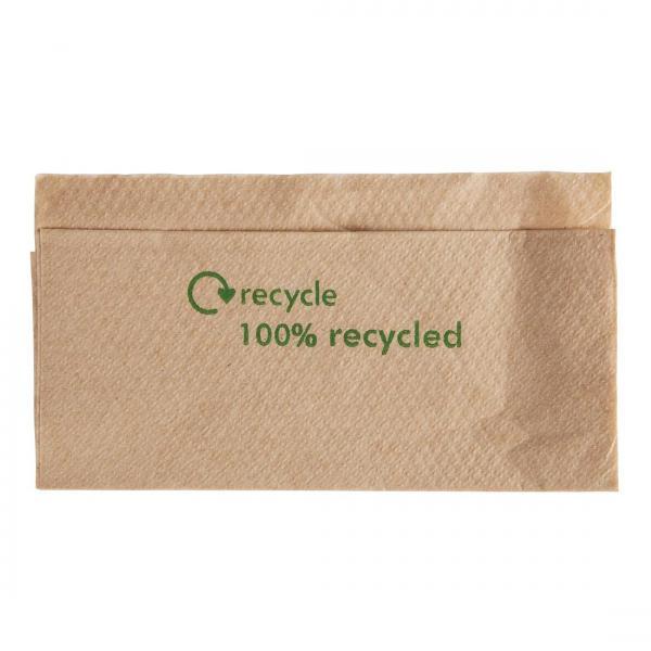 32cm-Kraft-Novafold-Napkins-1ply---Recycled-Logo-