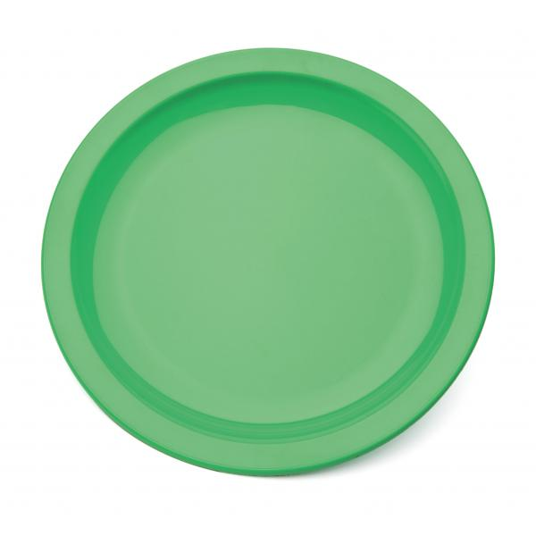 9--Polycarbonate-Rimmed-Plate---GREEN