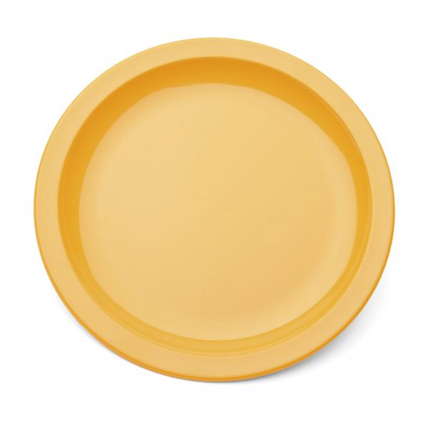 9--Polycarbonate-Rimmed-Plate---Yellow