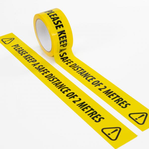 Keep-Safe-Distance-Self-Adhesive-Floor-Tape
